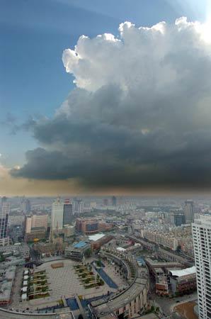 中国气象局9月1日早8点发布的最新卫星云图 来源 中国气象局网站 -泰图片