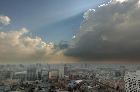 9月1日早8点发布的最新卫星云图 来源 中国气象局网站 -泰利今天直图片